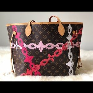 Authentic Louis Vuitton Neverfull MM BAY Chain